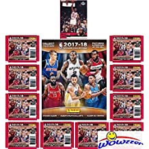 2017/18 Panini NBA Basketball Stickers EXCLUSIVE WOWZZER Special Collectors Package with 10 Sticker Packs & 72 Page Collectors Album!  Plus Bonus of Vintage Michael Jordan Chicago Bulls Card!