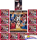 #7: 2017/18 Panini NBA Basketball Stickers EXCLUSIVE WOWZZER Special Collectors Package with 10 Sticker Packs & 72 Page Collectors Album! Plus Bonus of Vintage Michael Jordan Chicago Bulls Card!
