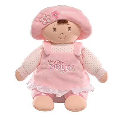 "GUND My First Dolly Stuffed Brunette Doll Plush, 13"": Toy: Toys & Games"