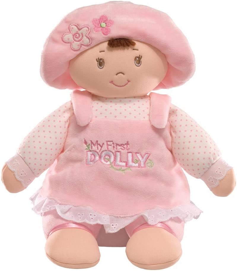 GUND My First Dolly Stuffed Brunette Doll Plush, 13""