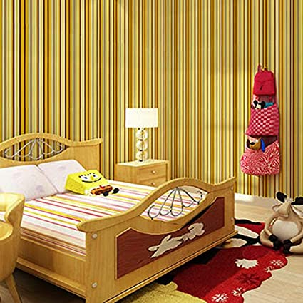 Waterproof Stripe Wallpaper Self Adhesive Wardrobe Door Kitchen Wall Sticker