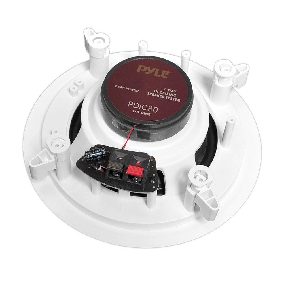 Pyle Pdic80 300w 8 Inch Two Way In Ceiling Speaker System Amazonco Details About 4 Channel Car Amplifier Wiring Kit8quot Speakerspyle Hi Fi Speakers