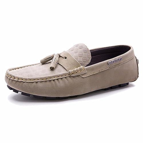 Moonwalker Mocasines Hombre en Cuero Nubuck con Borlas: Amazon.es: Zapatos y complementos