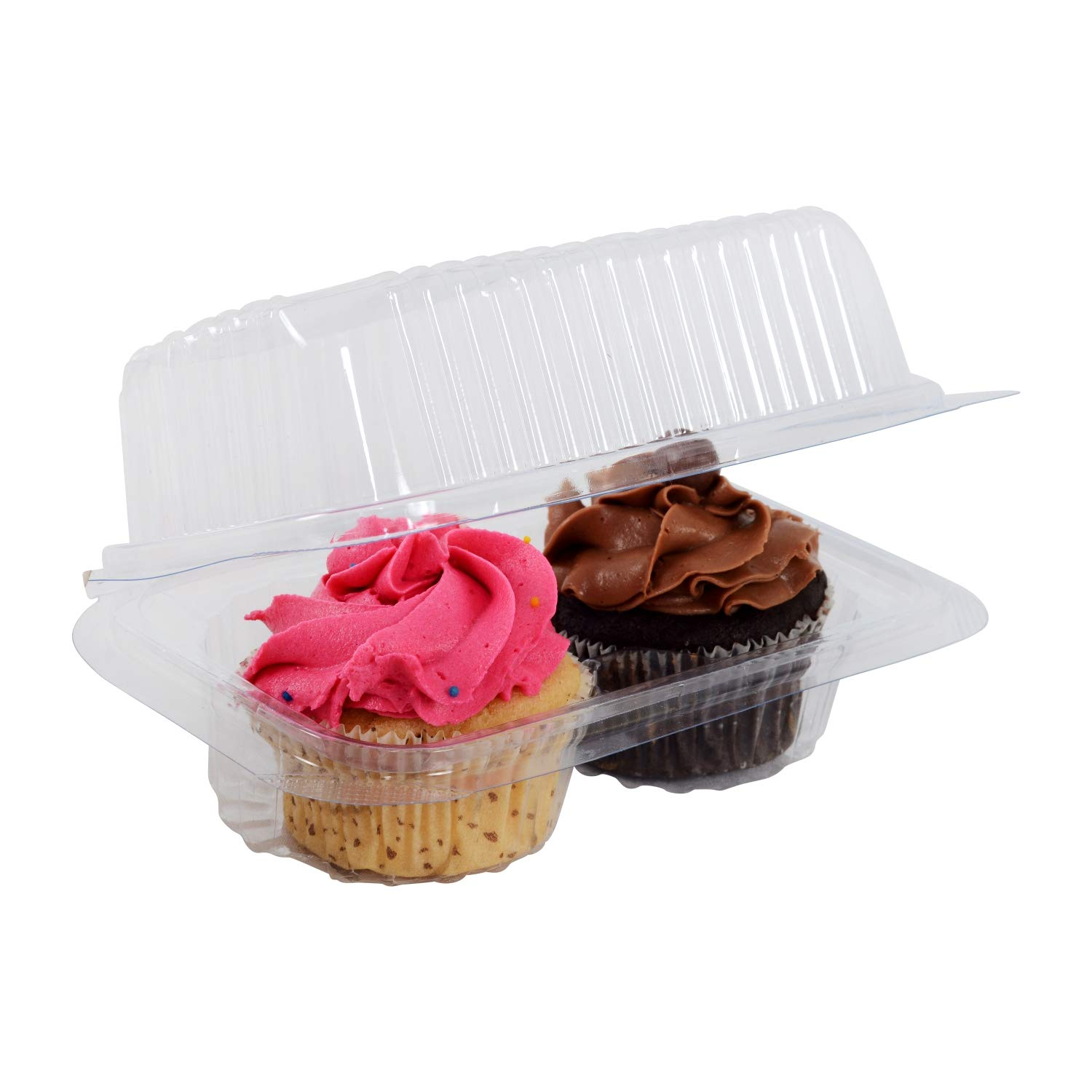 2 High Dome Clear Plastic Cupcake container Muffin holder Cupcake box Party favor box baking tray //25 Pack.AHPB005