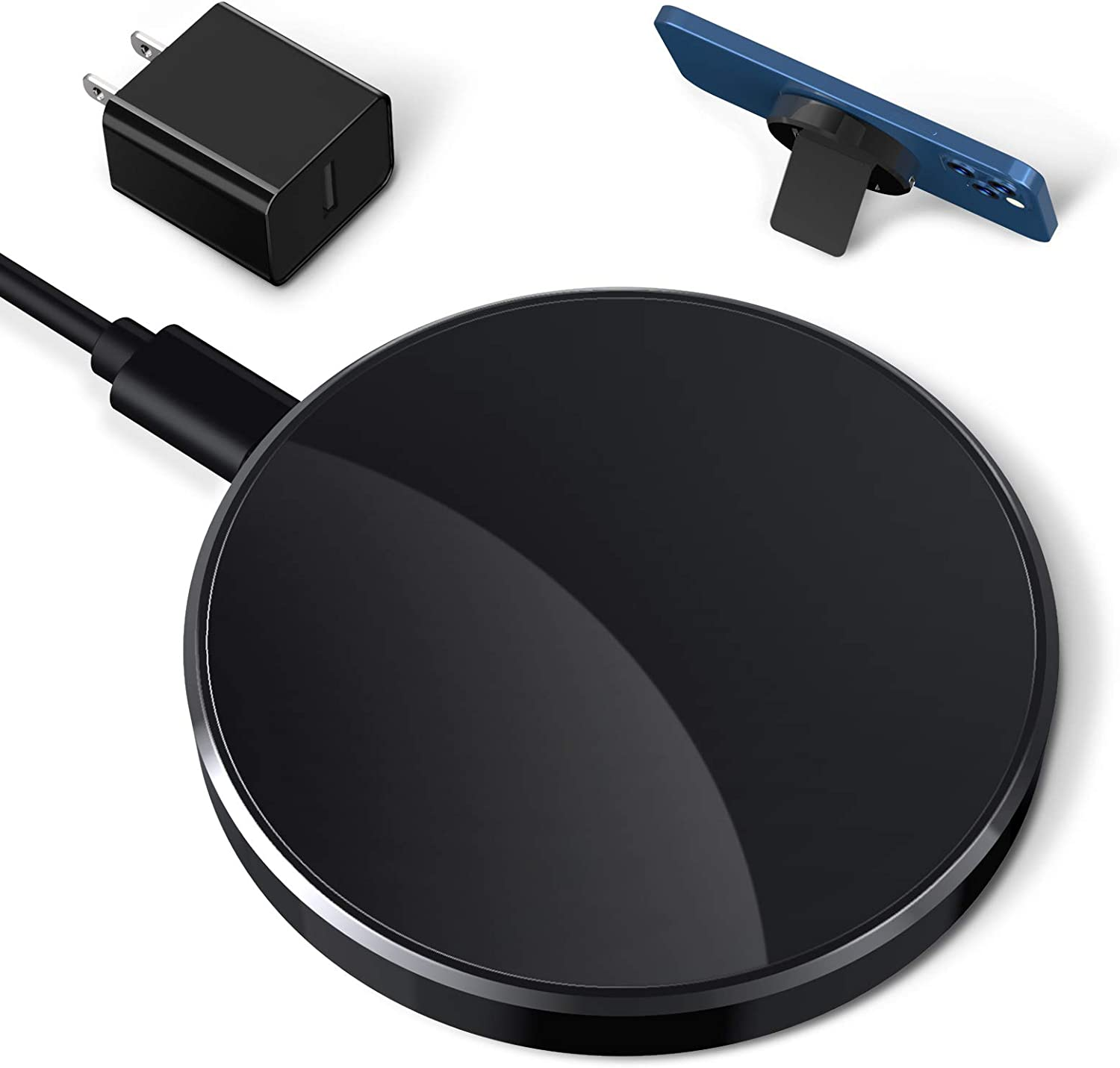 QI-EU Magnetic Wireless Charger Compatible with iPhone 12/12 Mini/12 Pro/ 12 Pro max and Apple AirPods 2 /pro,Fast Charging Pad Station with 18W Adapter