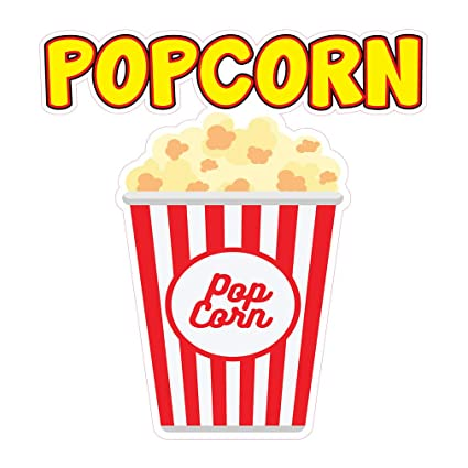 photo relating to Popcorn Sign Printable titled : Die-Minimize Sticker Many Dimensions Popcorn Design and style A