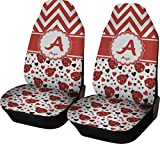 seat covers for cars chevron - Ladybugs & Chevron Car Seat Covers (Set of Two) (Personalized)