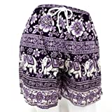 Sexy Shorts Thai Elephant Women Thin Free Size Sleep Girl Purple