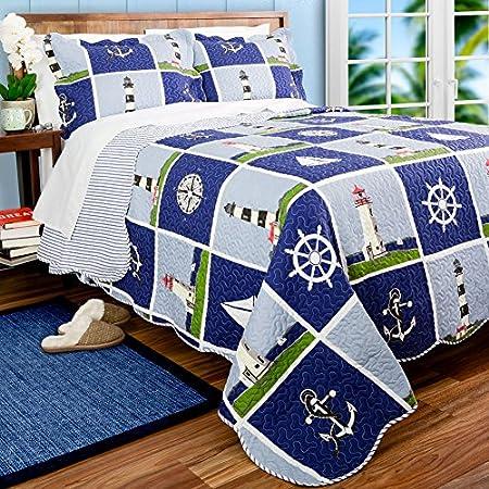 61H-mbBTdnL._SS450_ 100+ Nautical Quilts and Beach Quilts