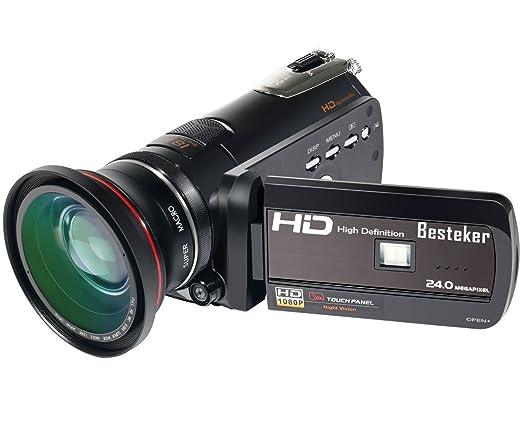 7 opinioni per Videocamere, Besteker fotocamera HDMI 1080P FHD Digital Video (visione notturna