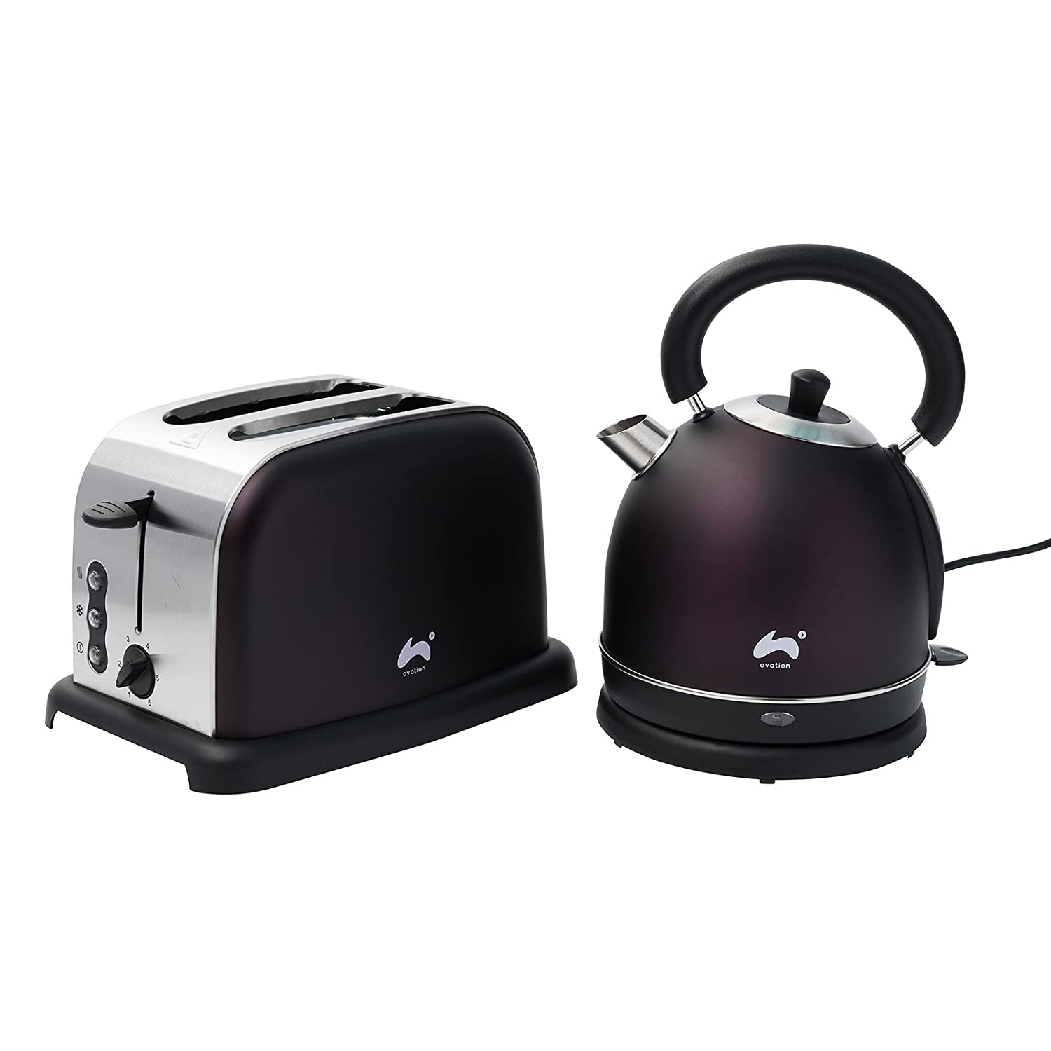5l accents range only electricals co uk small kitchen appliances - Ovation Plum Classic Breakfast Set 2200w Dome Kettle With 1 8l Capacity Strix Control