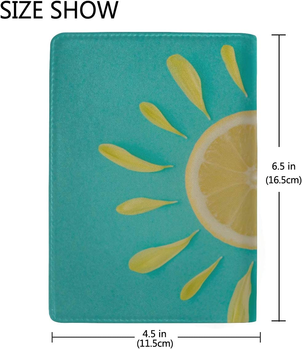 Golden Crescent And Sun Blocking Print Passport Holder Cover Case Travel Luggage Passport Wallet Card Holder Made With Leather For Men Women Kids Family