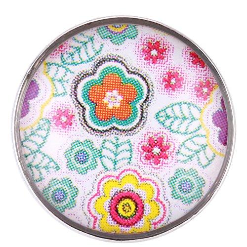 Morella ® pour petit click-button lot de 5 boutons pression 12 mm de diamètre et de chien avec motif smiley