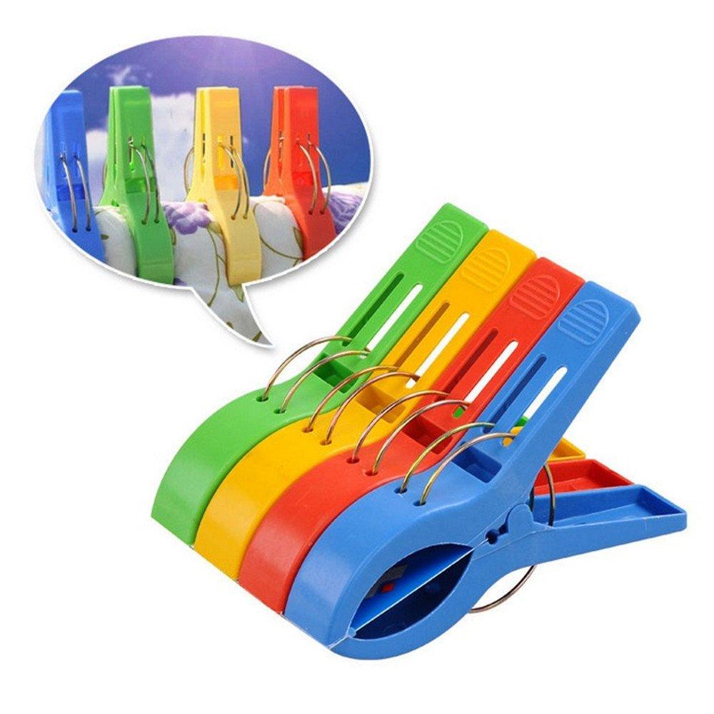TRIXES Toalla Grande Playa de Plástico Color Brillante Clavijas Clips Cabina de Bronceado: Amazon.es: Hogar