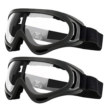 2 gafas de seguridad para niños con protección antiniebla y protección UV, perfectas para pistola