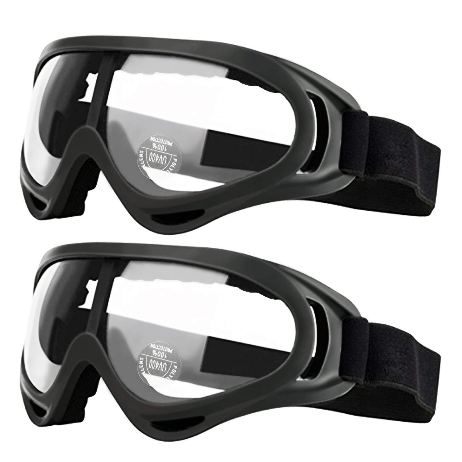 GUSTYLE 2 Pack Children's Safety Glasses with Wind Resistance and UV400 Protection Perfect for Foam Blasters Gun