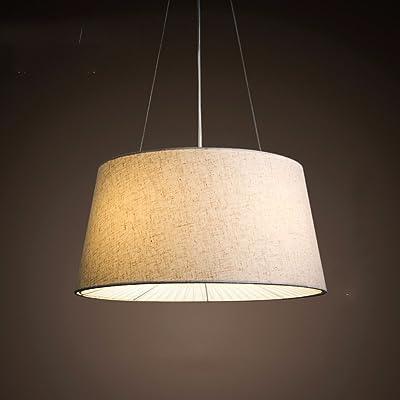 LighSCH Lustre Suspension Plafonnier Chambre à Coucher Moderne Chef Du  Cercle De Tissus Chaleureux Restaurant Lampe Luminaires Lampe Lumière  Blanche 50*25cm ...