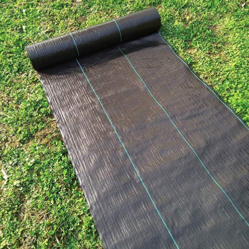 Agfabric Landscape Ground Cover 6x100ft Heavy Duty PP Woven Weed Barrier,Soil Erosion Control and UV stabilized, Plastic Mulch Weed Block by Agfabric