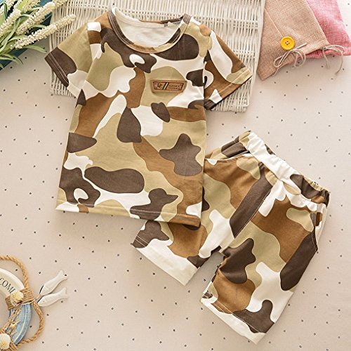Acmede ni Marr verano Pantalones cortos manga Ropa os Camuflaje Camiseta Boy de para Baby de corta Set gnarg