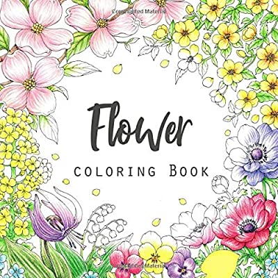 Realistic Flower Coloring Pages | Flower coloring pages, Free ... | 400x400