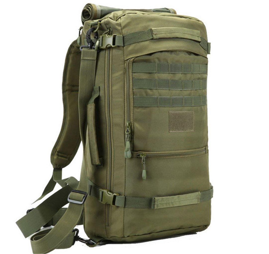 50l大容量メンズ旅行バッグアウトドア登山バックパックハイキングキャンプ防水オックスフォードバケットショルダーバッグ B07B49FL6C 50 - 70L|アーミーグリーン アーミーグリーン 50  70L