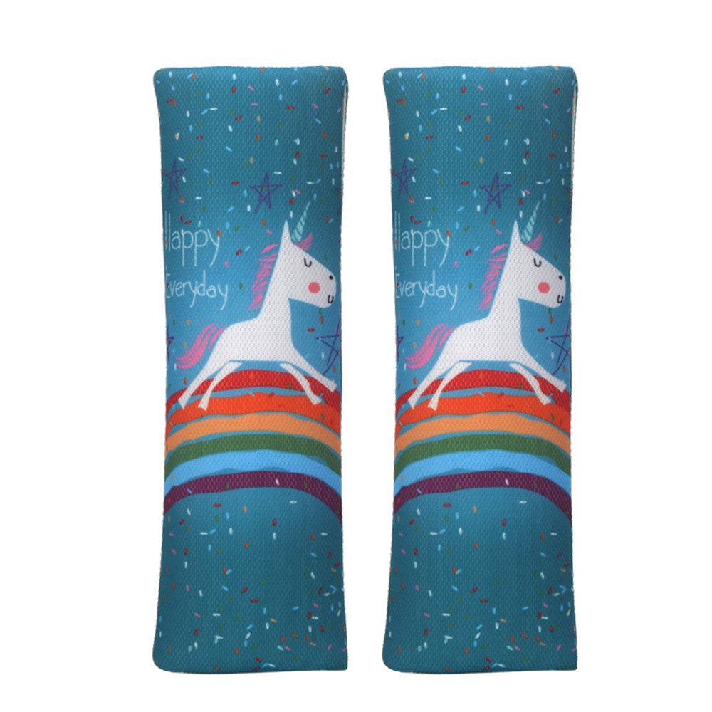 JBBERTH Auto Car Seat Belt Covers Shoulder Pads 2Pcs One Pair (unicorn)