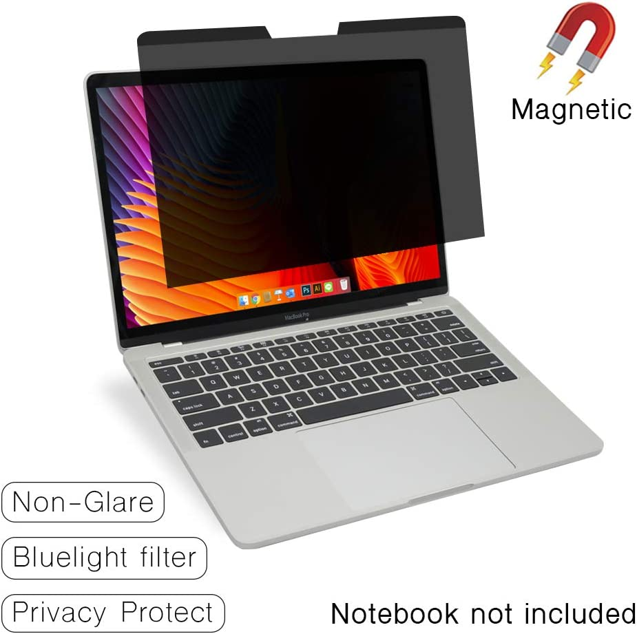 "SenseAGE Magnetic Privacy Screen Filter for MacBook Pro 13.3"", Easy On/Off Anti-Blue Light Privacy Screen Protector, Compatible for MacBook Pro 13.3 inch (2016-2020), Air 13.3 inch (2018~2020)"
