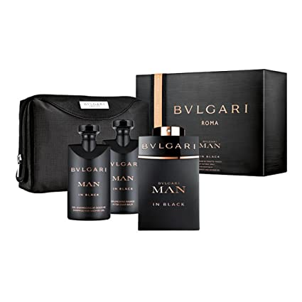 Bulgari Man In Black Set - Vaporizador de agua de colonia de 100 ml + After