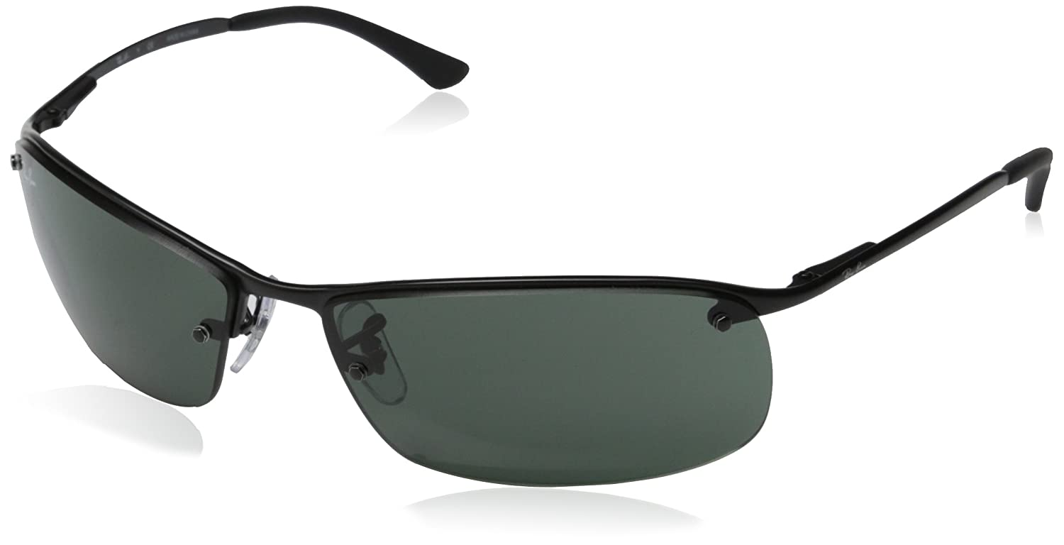 Amazon.com: New Ray Ban Top Bar RB3183 006/71 Matte Black/