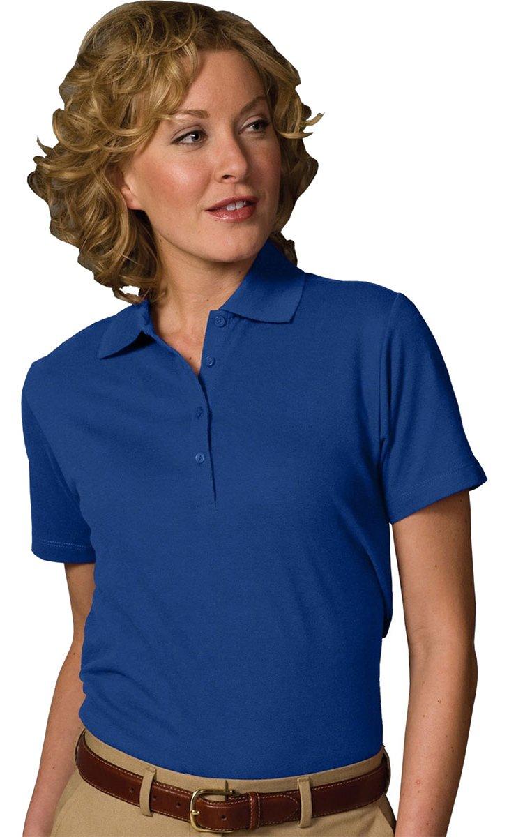 Edwards Garment Women's Short Sleeve Soft Touch Polo Medium Royal