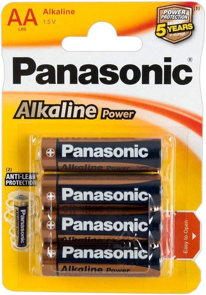 Panasonic POWER LR6 AA - Pack de 4 pilas alcalinas