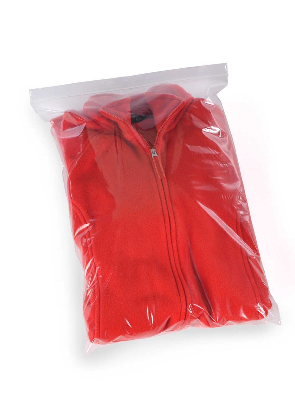 18'' x 24'' x 2 mil Clear Plastic Reclosable Bags with Zip Top (Case of 500)