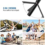Mpow Upgraded Selfie Stick Bluetooth, 2-in-1 Extendable Selfie Stick Tripod with Wireless Remote Shutter for iPhoneX/8/8P/7/7P/6s/6, Galaxy S9/S9 Plus/S8/S7/S6/S5/Note 9/8, Huawei and More (Black)