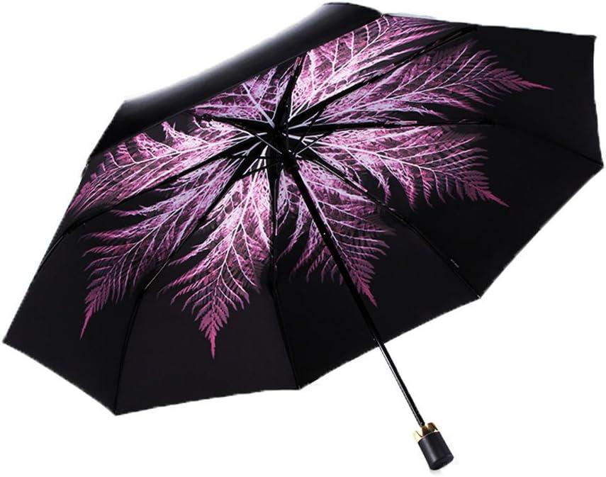 YTSZM Umbrella Ultralight Portable UV Folding Vinyl Sunscreen Color : Red