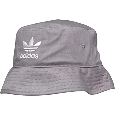 bbf1f532ac8 Adidas Originals Bucket Hat Mens Trefoil Logo Grey One Size B44998   Amazon.co.uk  Clothing