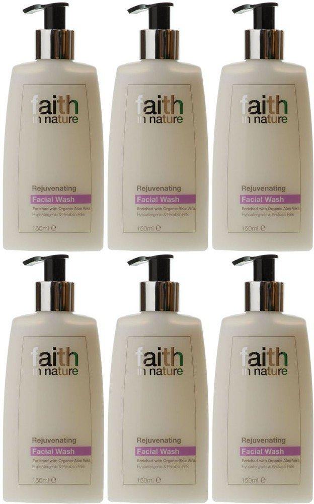 (6 PACK) - Faith in Nature - Rejuvenating Facial Wash | 150ml | 6 PACK BUNDLE