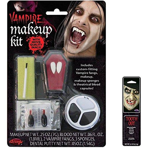 Potomac Banks Bundle: 2 Items - Vampire Fang Character Kit and Free Pack of Makeup -