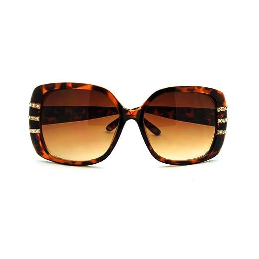 79995247487f Louise Valentin Diva Womens Rhinestone Butterfly Fashion Sunglasses Tort  Gold