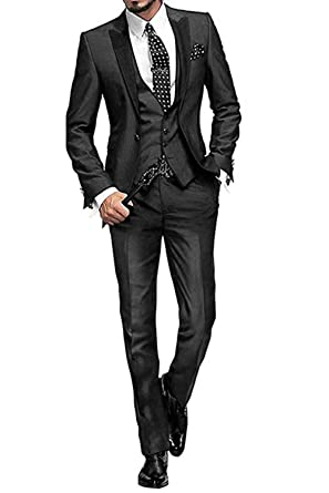 MYS Men de Custom Made Groomsman esmoquin traje Pants chaleco y ...