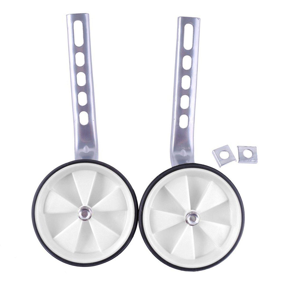 OULII Traing Wheel Kid Bicycle Fittings Bike Wheel Kit Universal Kids Bike Kit Fits 12''-20'' Bicycles(White)