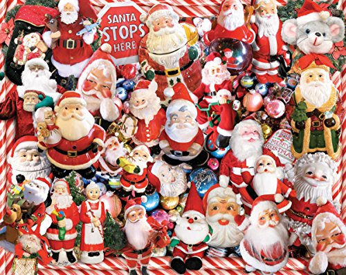 White Mountain Puzzles Crazy Santas - 1000 Piece Jigsaw Puzzle Crazy Santas