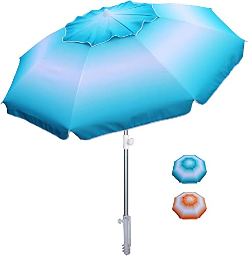 AMMSUN 6.5 ft Beach Umbrella
