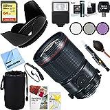 Canon (2275C002) 35mm f/4L Fixed Prime MACRO Digital SLR Camera Lens + 64GB Ultimate Filter & Flash Photography Bundle