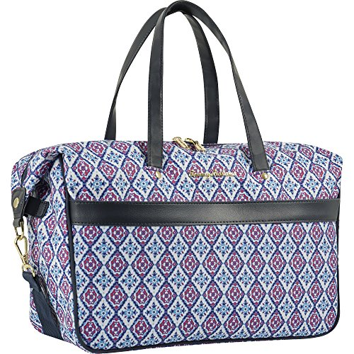 (Tommy Bahama Large Weekend Overnight Duffel Travel Bag, Pink/Blue, One Size)
