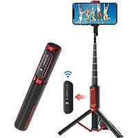 BlitzWolf Selfiepinne Bluetooth, aluminium allt i ett utdragbart selfiepinne stativ med trådlös fjärrkontroll för iPhone…