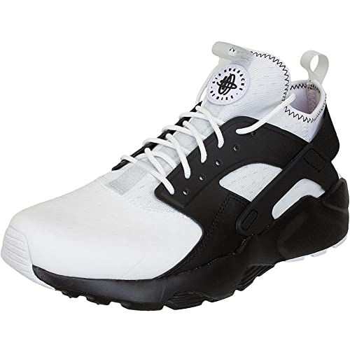2b4b7d612e146 Nike Mens Huarache Run Ultra SE Running Shoes White Black-Pure Platinum  875841-