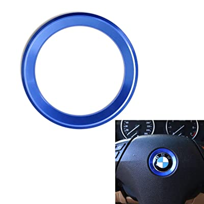 DEMILLO Aluminum Steering Wheel Center Decoration Cover Trim For BMW 1 2 3 4 5 6 Series X4 X 5 X6 (F20 F21 F22 F23 F30 F31 F32 F33 F35 F36 F10 F11 F12 F13 F26 F15 F16) (blue): Automotive