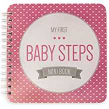 "NEW! Baby First Year Memory Mini Book for Two Moms LGBT Family. Pretty in Pink ""Modernista""(TM), Poly Cover. Intimate, travel size memory keeper record book and journal. 5x5"" - Great Shower Gift!"