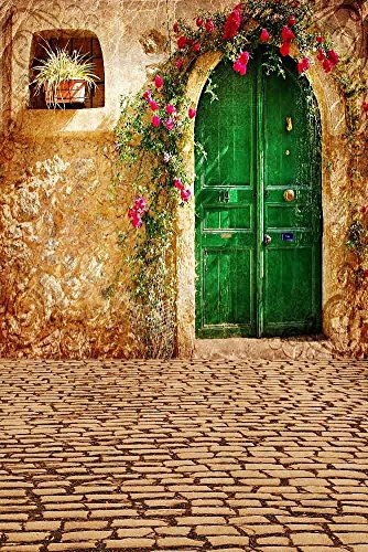 GladsBuy Bright Door 8' x 12' Digital Printed Photography Backdrop Housing Theme Background YHA-322 by GladsBuy