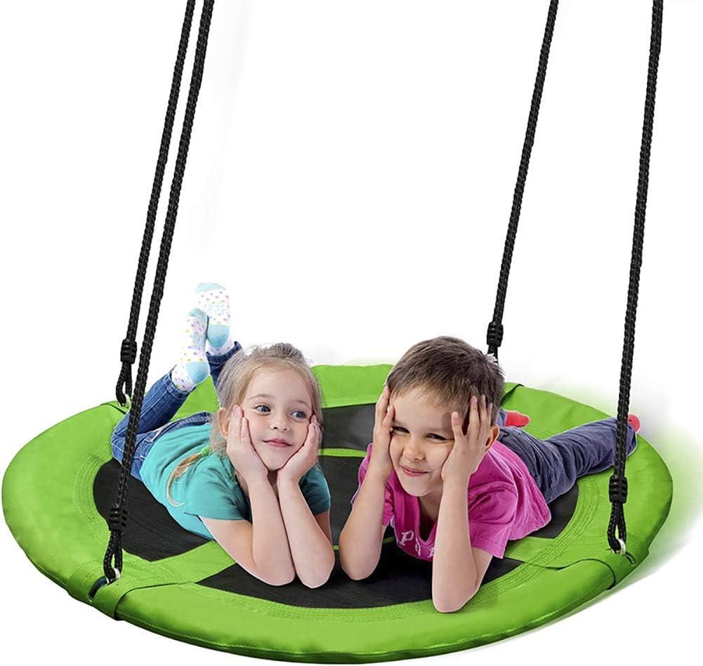 CJCJ-LOVE Swing Kids, Niños Ronda Nido Hamaca Silla De Cubierta Jardín Al Aire Libre, 900D Oxford Tela Swings Placa Oscilante 100Cm Diámetro,C